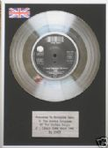 "CHER -7"" Platinum Disc - IF I COULD TURN BACK TIME"